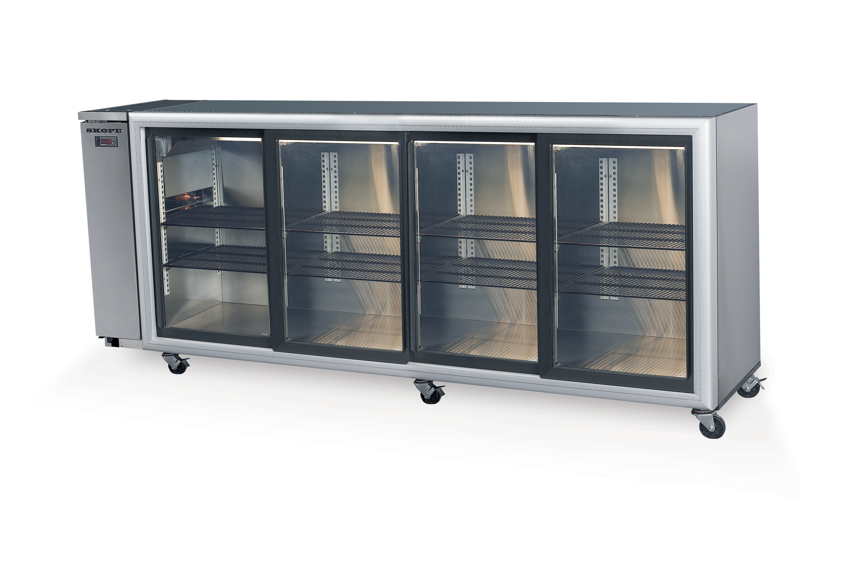 Skope Refrigeration Bb780 4 Sliding Glass Door Fridge Remote
